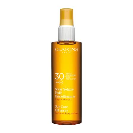 Spray Solaire Huile Embellissante UVA:UVB 30 Clarins